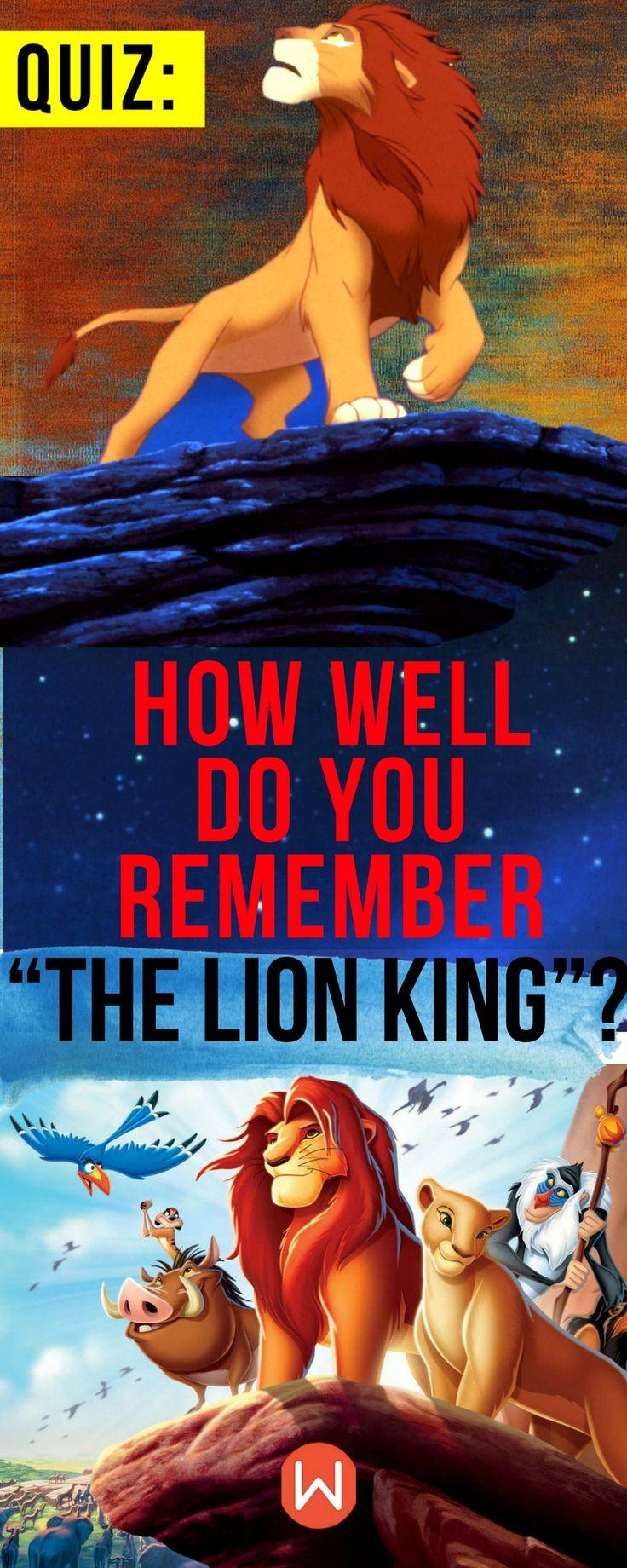 """Disney Quiz: How well do you know """"The Lion King""""? Buzzfeed Quizzes, Playbuzz quiz, Disney Trivia, Disney Knowledge Quiz, Disney Knowledge Test, Movie Test, Movie Trivia, Movie Questions, Disney Movie Quizzes, Lion King Quiz, Simba, Mufasa"""