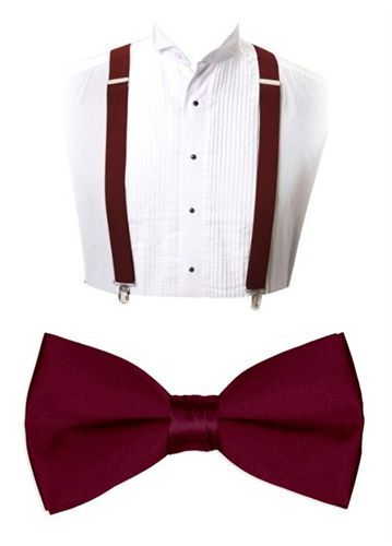 Self tie bow tie - Burgundy base with off-white flowers Notch rop1YFz1