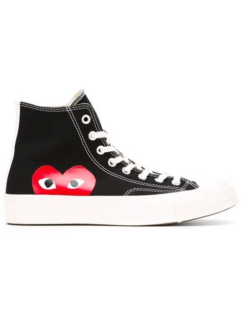 Shop Comme Des Garçons Play Comme Des Garçon Play x Converse 'Chuck Taylor All Star' hi-top sneakers in Traffic Los Angeles from the world's best independent boutiques at farfetch.com. Shop 400 boutiques at one address.