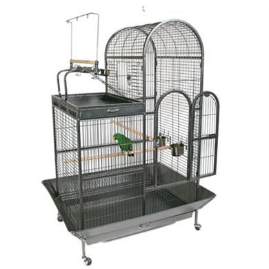 Deluxe Parrot Cage W/Playtop