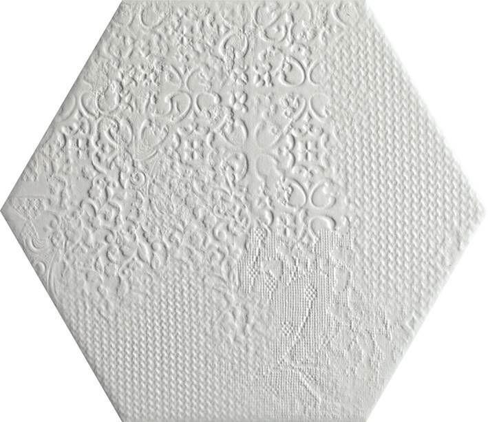 Codicer95 Milano White Hex 25x22 Płytka Gresowa Podłogowo-Ścienna CO/MH22WH