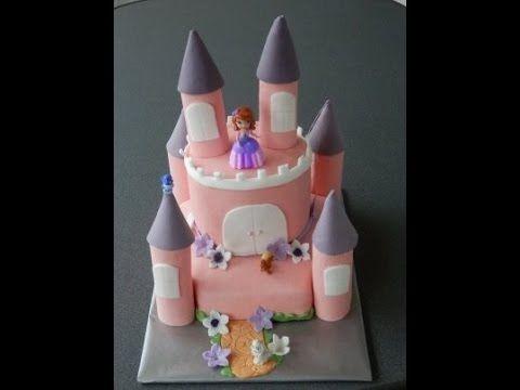 """украшаем торт мастикой.Торт """"Замок для принцессы"""""""