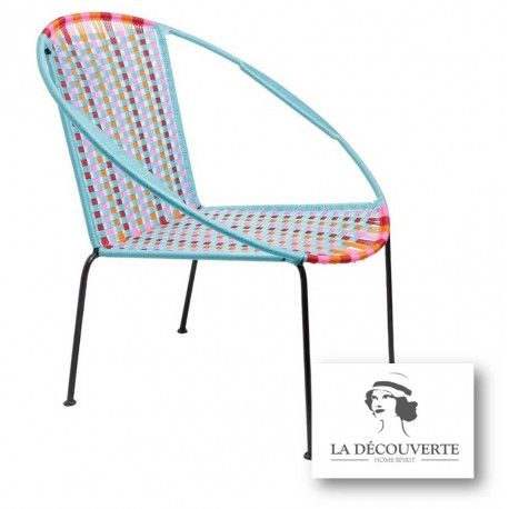 FAUTEUIL MIX TURQUOISE 'TOGO'