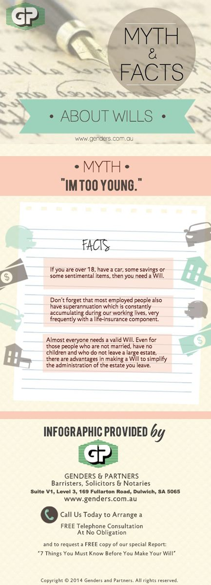 40 best deceased estates images on pinterest western australia myth and facts about wills infographic im too young solutioingenieria Image collections