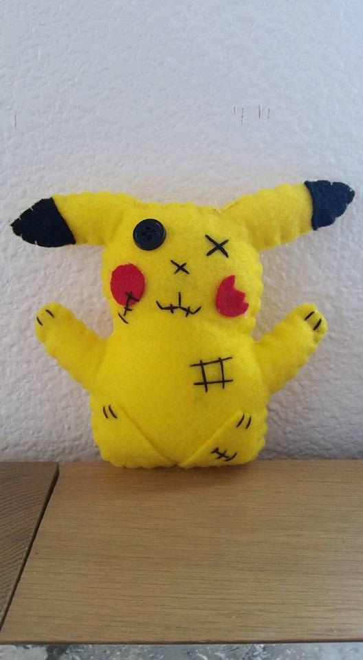 Zombie mouse pokemon pika by All4UnPaws on Etsy