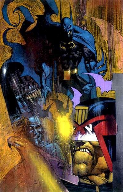 Batman and Judge Dredd by Simon Bisley