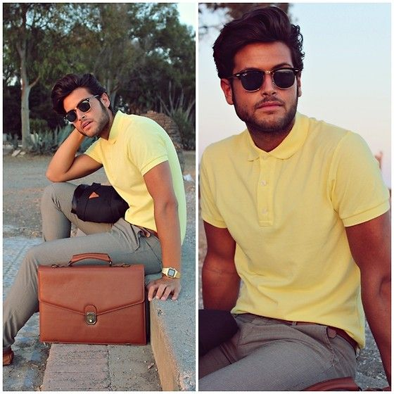 Alberto Bennett - Zara Polo Shirt, Zara Pants, Zara Blazer - Polo Shirt yellow and black blazer