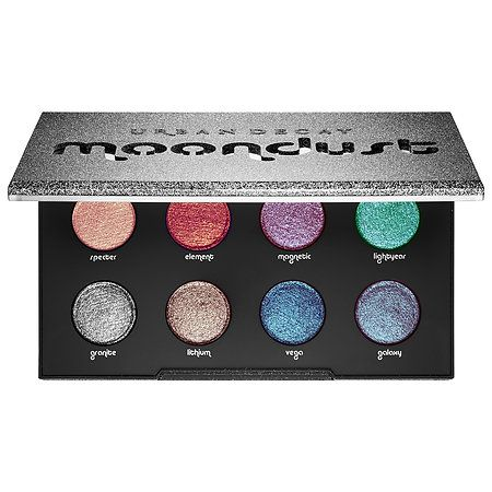 Shop Urban Decay's Moondust Palette at Sephora. It has eight shades with iridescent sparkle in 3-D metallics for a diamond-like effect.