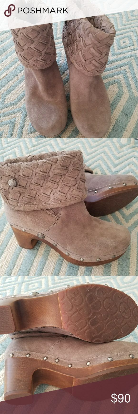 UGG Lynnea Arroyo Weave Gray Suede boots. Size 7. Brand new. Unworn. UGG Shoes Ankle Boots & Booties