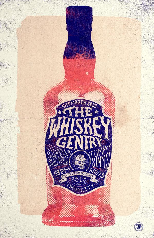 The Whiskey Gentry - Concert Poster 3 by Conrad Garner, via Behance