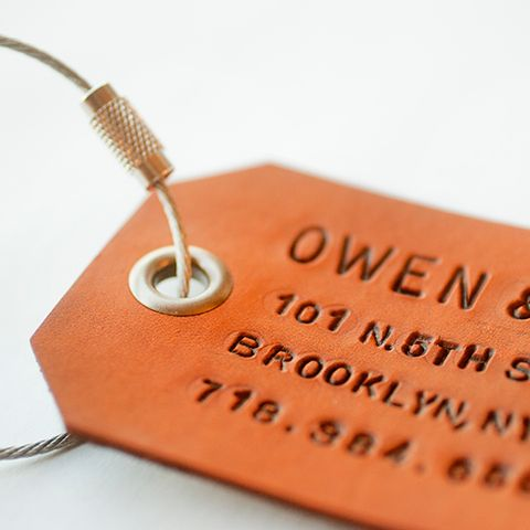 Owen and Fred - A Pair of Custom Leather Luggage Tags