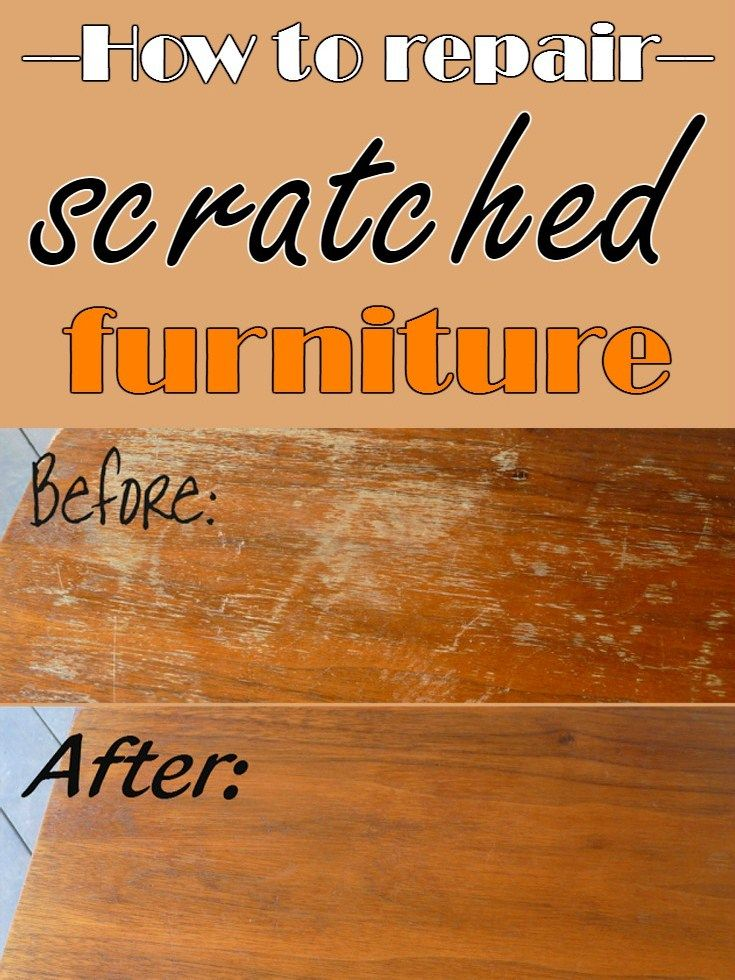 How to repair scratched furniture - CleaningDIY.net