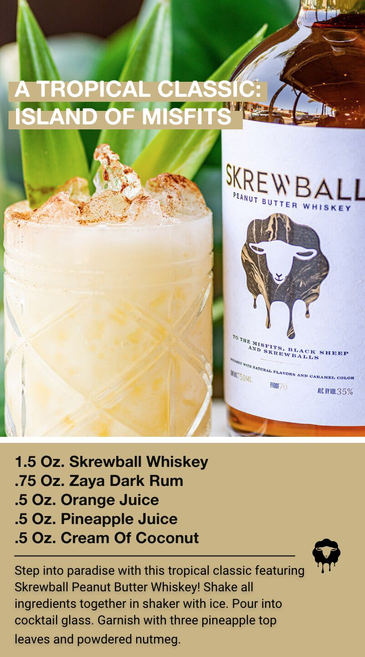 A tropical peanut butter and whiskey cocktail... how about that for a new favorite! Look ahead ...