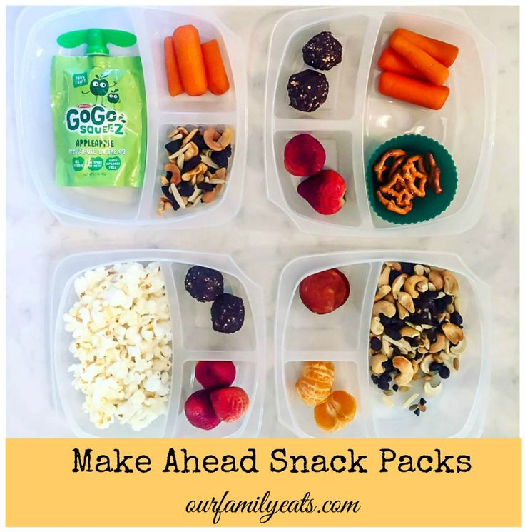 Healthy make ahead snack packs - love these for on the go snacks for the kids and work snacks for me!