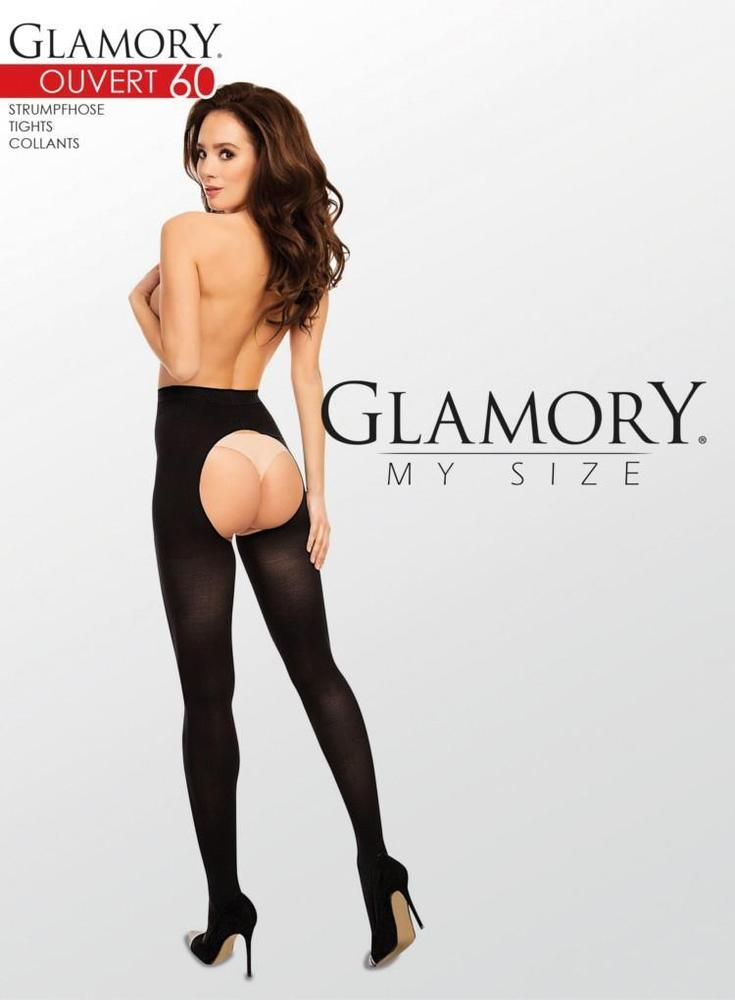 73a4cbe6c23 Details about Glamory Ouvert 60 Open Gusset Tights