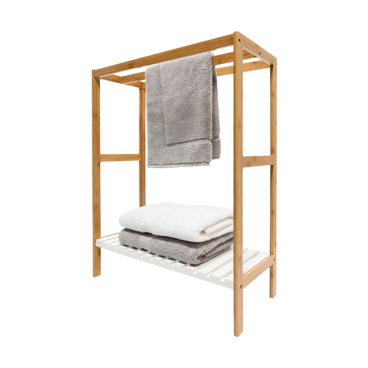 Towel Rail with Bamboo Frame | KmartNZ
