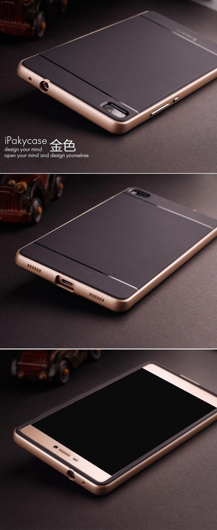 Huawei P8 iPakycase Ultra Fin Hybrid PC Bumper + Silicone Back Case