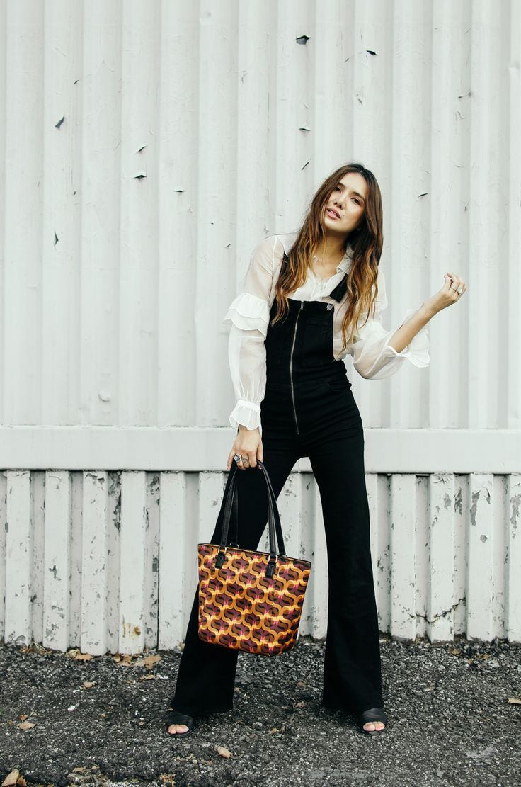 MOOD: Dungarees are my Autumn staple. Style a flouncy blouse underneath for a retro look.