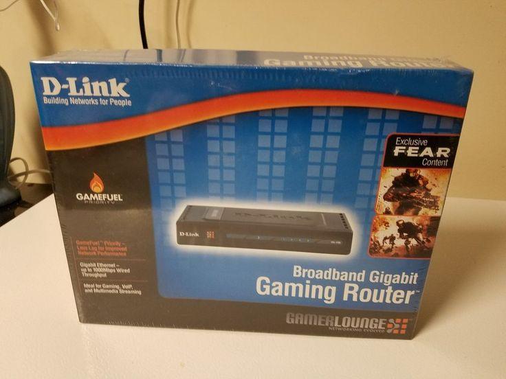 D-Link DGL-4100 4-Port Gigabit Wired Gaming Router. New, sealed. #DLink