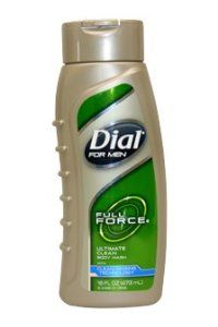 Full Force Ultimate Clean Body Wash Men 16 oz. by Dial. $5.42. Engineered with the right balance of skin conditioners. Dial for Men Full Force Ultimate Clean Body wash. NON-DRYING FORMULA. Removes odors and cleans deeply. THE ULTIMATE CLEAN. This body wash helps you get rid of dirt and hydrate your skin. So you look good and smell great - but like a manly guy, not a girl. Engineered with the Right Balance of Skin Conditioners and Odor-Removing Cleansers. Results in s...