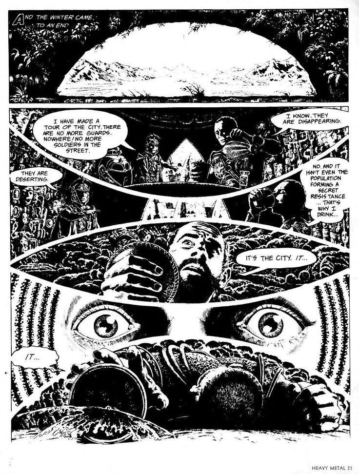 Heavy Metal v01 #01 (April 1977) I found these on Archive.org tons of cool classic zines  http://archive.org/stream/heavy-metal-magazine-1977-04/Heavy_Metal_v01_01_April_1977#page/n23/mode/2up