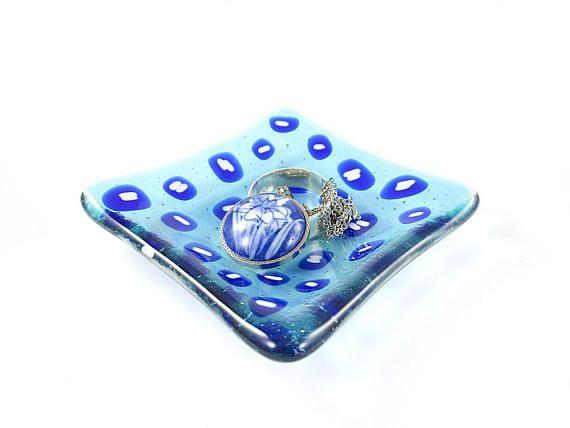 Trinket Dish Ring Dish Leopard Dish Fused Glass Dish Soap Dish