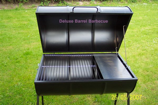 Double Barrel Smoker | Feature Packed The Deluxe Barrel Barbecue
