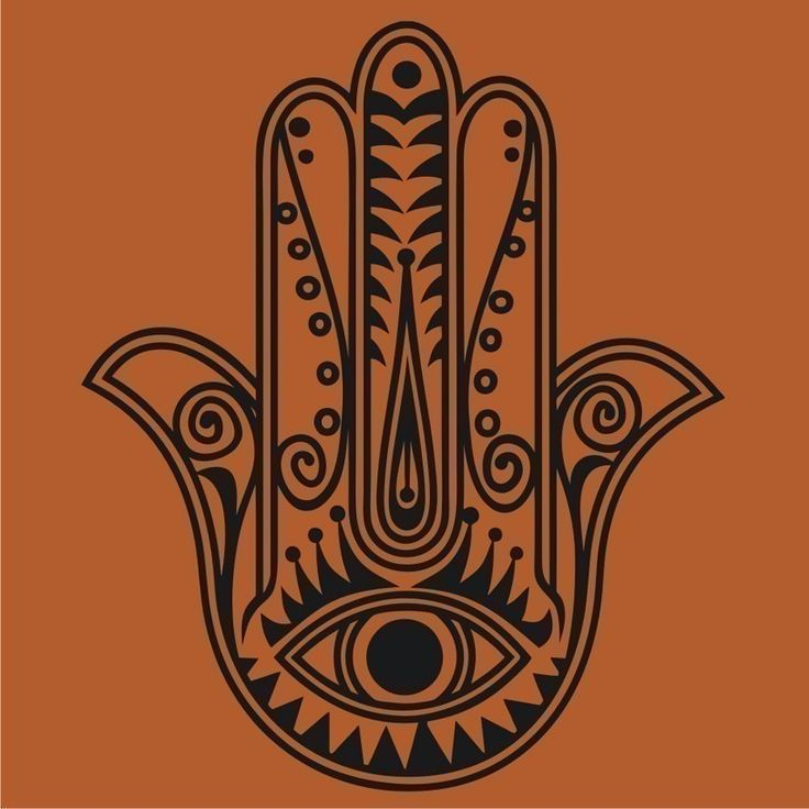 hamsa wall decal sticker vinyl art traditional art evil by beepart, $25.00
