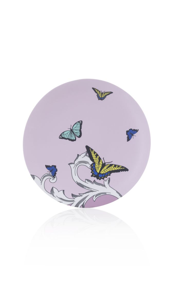Brightly colored Butterflies in flight Side Plate made of durable break resistant Melamine that measures in diameter Non-toxic (BPA free) non-abs  sc 1 st  Pinterest & 69 best Melamine Dessert Plates images on Pinterest | Entertaining ...