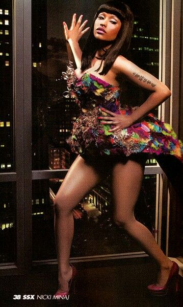 Nicki Minaj. I admit even tho she's kind of a guilty pleasure for me, I am obsessed with this woman.