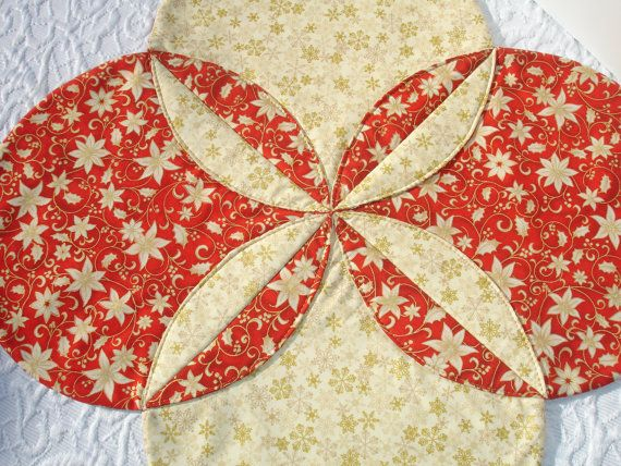 Christmas Table Runner Quilt will make a lovely addition to your holiday table. Beautiful as a table centerpiece or to brighten up a dessert table!  I