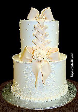 Petite Rose Cake for small intimate wedding