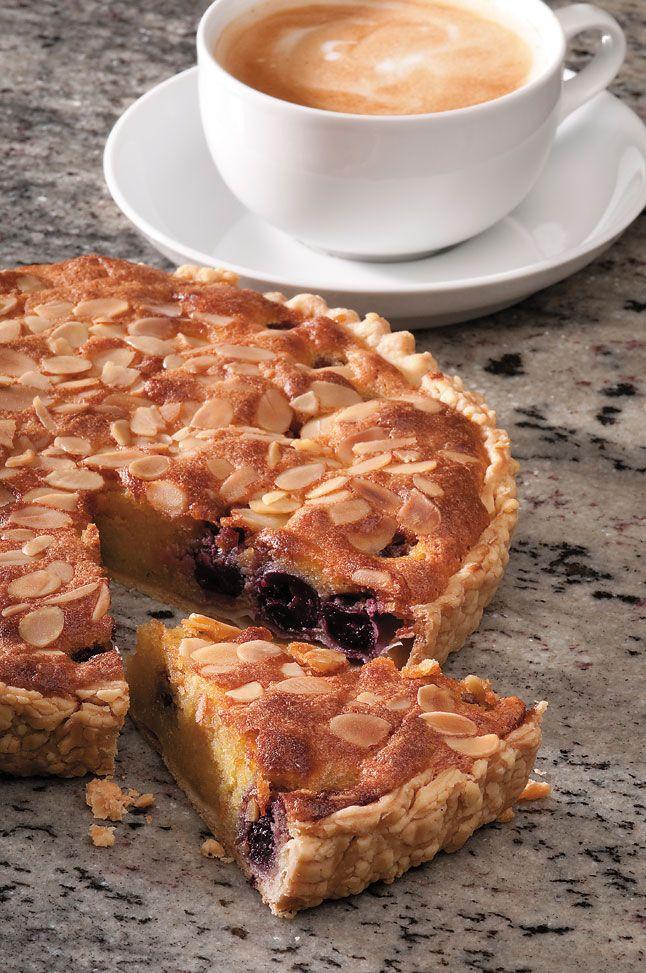 Cherry frangipane tart recipe, yum!