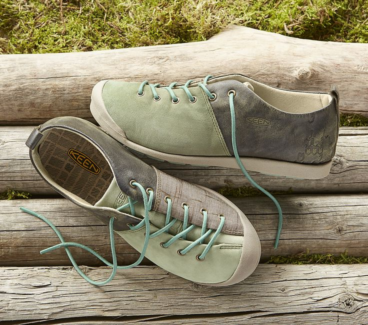Lower East Side Sneakers - Keen® sneakers with Mixed-media texture and asymmetrical laces.