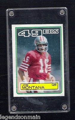 Joe Montana San Francisco 49ers Quarterback 1983 Topps Card #169