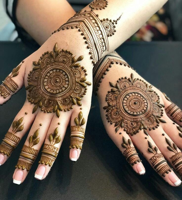 Latest Easy Mehndi Designs 2020 For Beginners Karva Chauth Mehndi Designs Circle Mehndi Designs Latest Mehndi Designs
