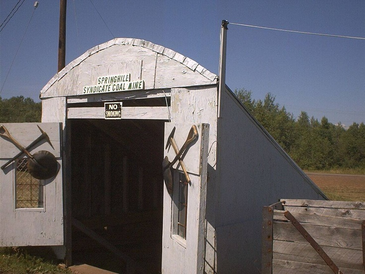 Syndicate mine entrance at the Springhill Miner's Museum
