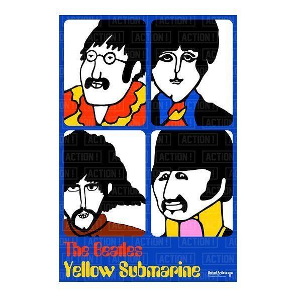The Beatles Yellow Submarine Vintage Movie Poster Art Print Maxi A1 A2 A3 A4