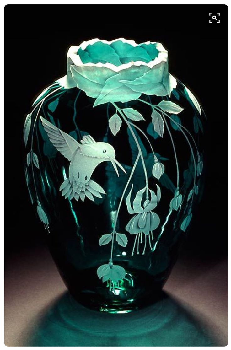387 best vases images on pinterest glass vase vases and vase fuchsias and hummingbirds teal art glass by cynthia myers reviewsmspy
