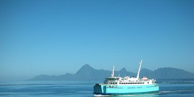 Moorea Blue Ferry from Tahiti to Moorea.  Only a 30 minute sail.  <3 Travel Journeys <3 www.travel-journeys.com <3