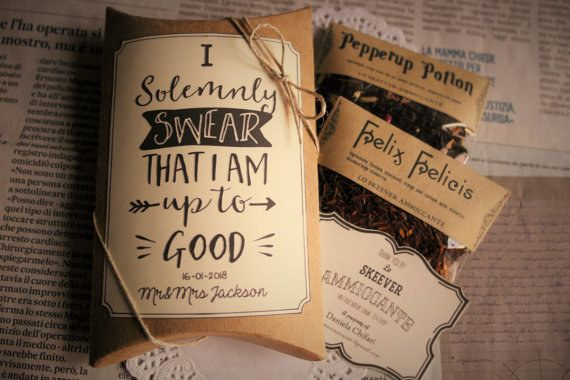 Don't forget about favours, like these delightful tea potions. | 27 Things You Need To Have A Classy AF Harry Potter Wedding