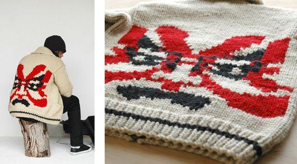 Kabuki Mask Sweater