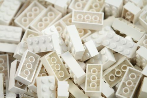 2 712 Lego White Brick Plate And Roof Tile Bulk Lot
