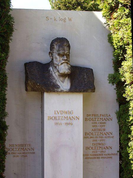 Grave of Ludwig Boltzmann, physicist, on Zentralfriedhof (Central Cemetery), Vienna, Austria