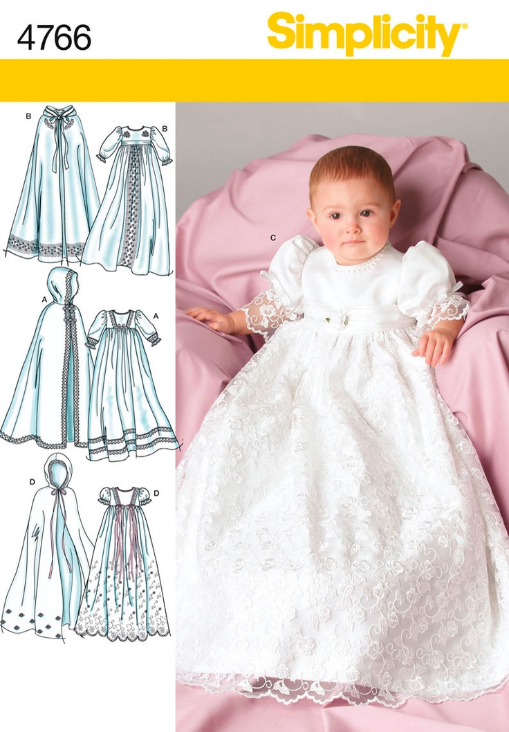 4766 Babies Christening Gowns Babies' Christening Dress and Cape