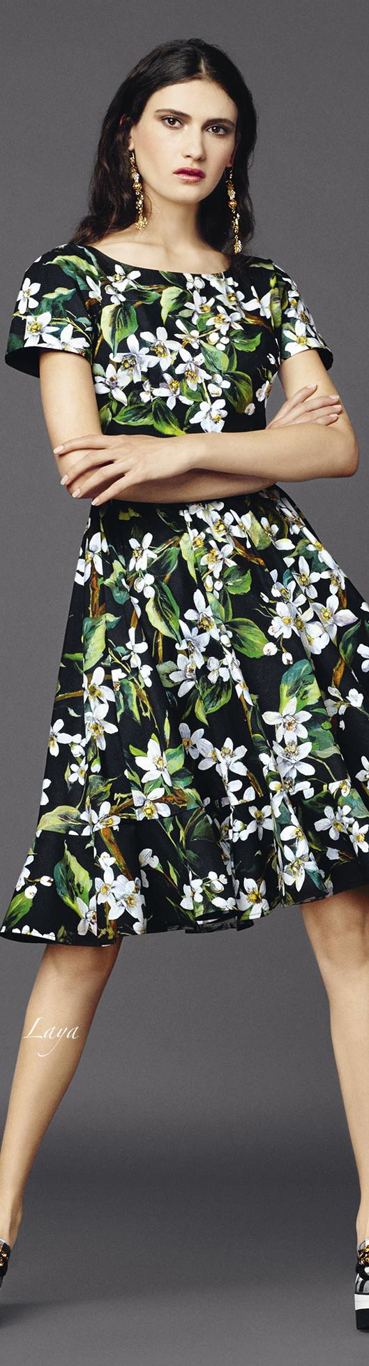 DOLCE & GABBANA Summer 2015 women fashion outfit clothing style apparel @roressclothes closet ideas