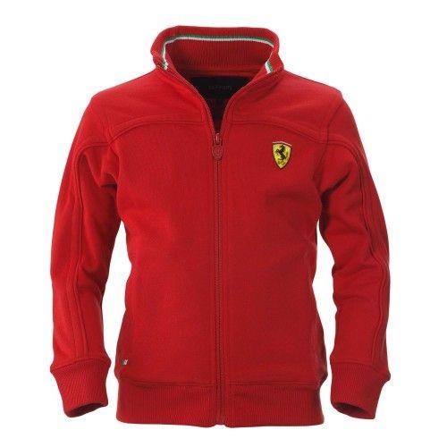 Kid's Ferrari Shield Sweatshirt  #ferrari #ferraristore #sweatshirt #red #bestracer #rossoferrari #kids #cavallinorampante #prancinghorse