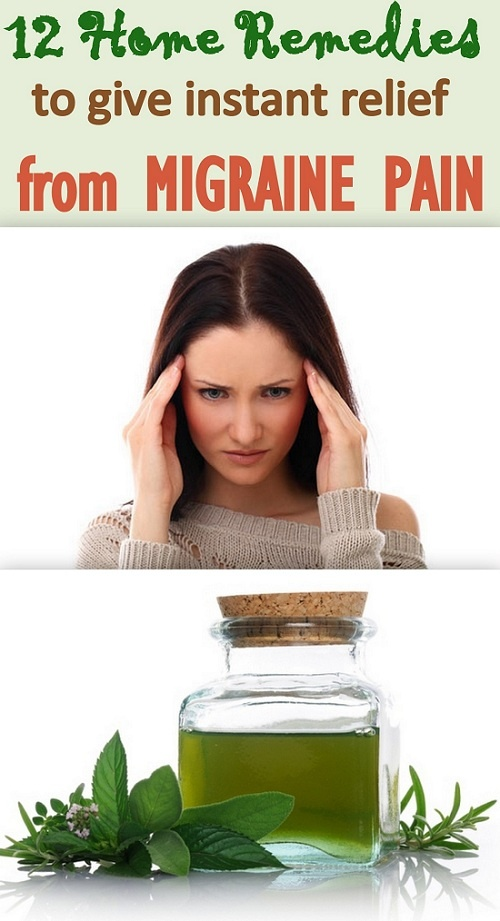12 tested home remedies for easing migraine pain, that will give you instant relief. http://www.feminiya.com/12-migraine-home-remedies-that-will-provide-you-a-quick-relief/
