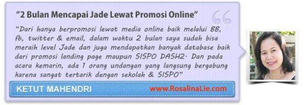 Testimoni DASH2 - RosalinaLie.com - Ketut Mahendri
