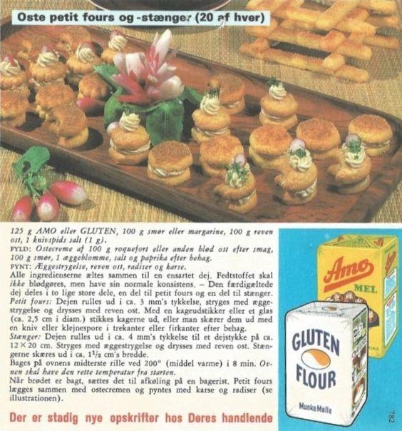 oste petit fours og - stænger